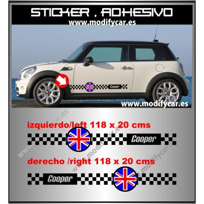 Bandas laterales MINI Union Jack