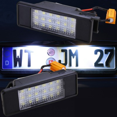 Luces led de matricula para Mercedes