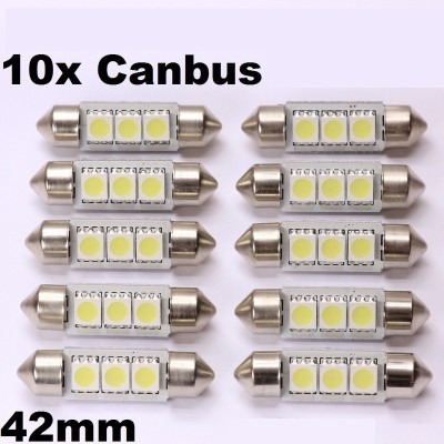 10 bombillas led 42mm canbus 5050SMD