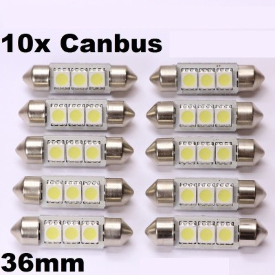 10 bombillas led 36mm canbus 5050SMD