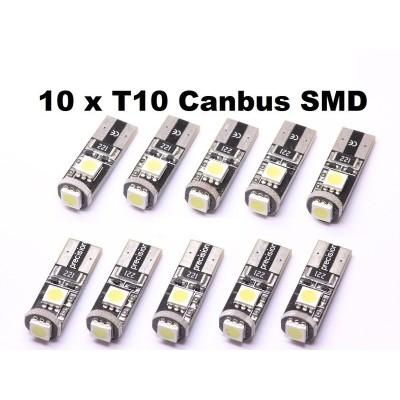 10 bombillas led T10 canbus 5050SMDx3
