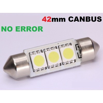 2 bombillas led 42mm canbus 5050SMD