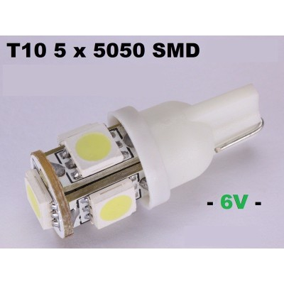 2 bombillas led T10 5050SMDx5