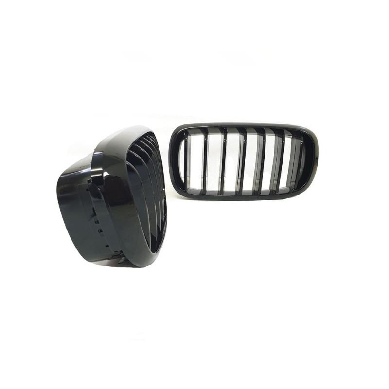 Parrilla para BMW X5 X6 f15 f16 negro brillante