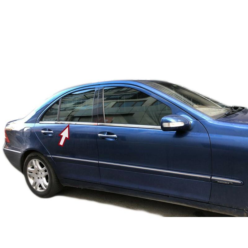 Molduras de ventana Mercedes W203 2000-2007 listones cromados