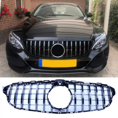 Parrilla frontal negro brillante para Mercedes-Benz C w205
