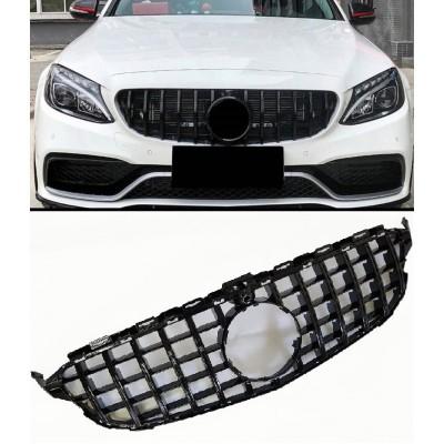 Calandra Parrilla panamericana negra para Mercedes C W205/C205/S205 camara 360º
