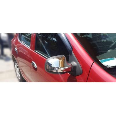 Carcasas Retrovisores Cromados para Dacia Logan II / MCV II