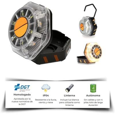 Luz Emergencia para coche o moto, Homologado DGT, señalización de peligro LED 16V