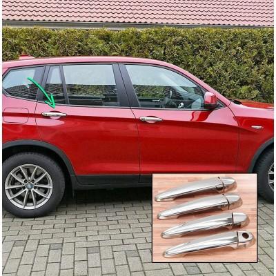Tiradores de puerta para BMW X4 - 2014-2018 cromados LED
