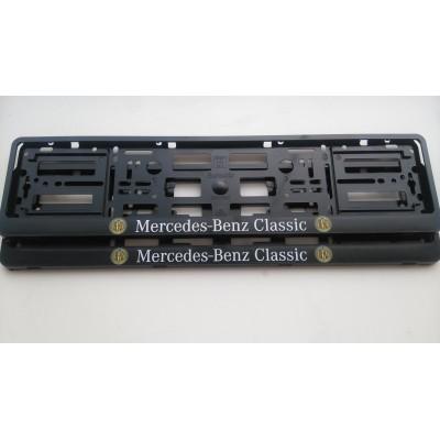 Pareja de portamatriculas Mercedes Benz Classic