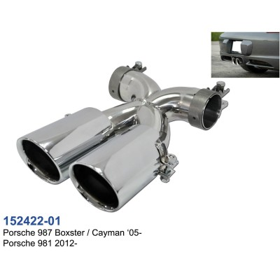 Colas escape Porsche Boxster Cayman 987 981