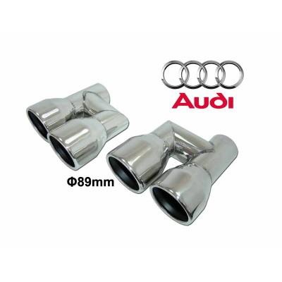 Colas de escape Audi S look 89mm