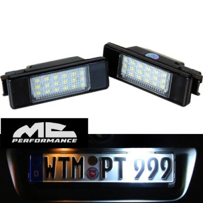 Luces led Matrícula para Peugeot