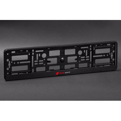 Portamatriculas para Audi Sport Negro