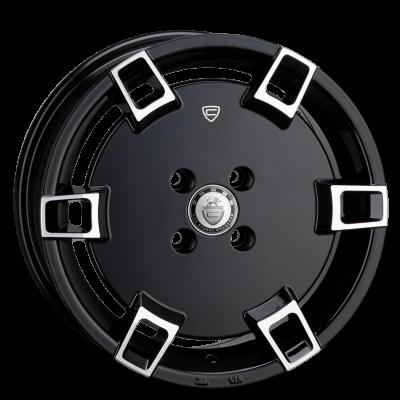 Llanta 15x7.0 5-100 ET30 CADES JADIS BLACK POLISH C73