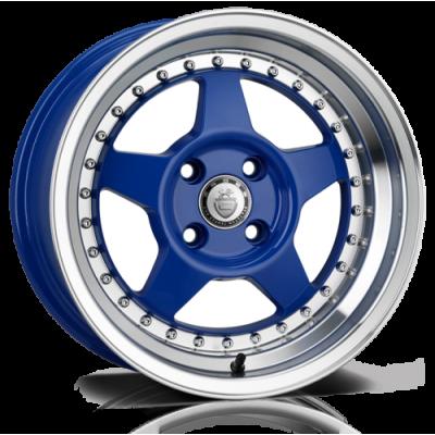 Llanta 15x8.0 4-100 ET20 CADES BLAST SPARK BLUE C73