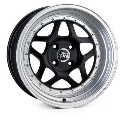 Llanta 16x8.0 4-108 ET25 JUNK EIGHTY SIX NOT SO SHINY BLACK L/P C73