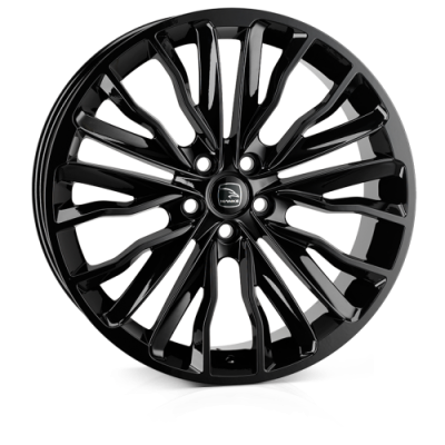 Llanta 22x9.5 5-120 ET40 HAWKE HARRIER GLOSS BLACK C72