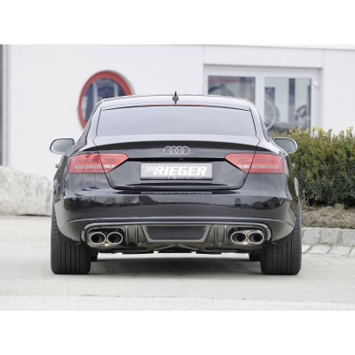Difusor trasero Rieger Audi A5 carbon look